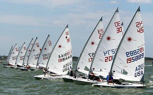Laser yachts racing